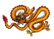 αρχαίο κινεζικό ύφος δράκ&ome Στοκ φωτογραφίες με δικαίωμα ελεύθερης χρήσης