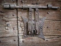 αρχαίο κλείδωμα πορτών Στοκ Εικόνα