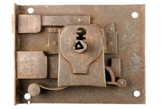 αρχαίο κλείδωμα Στοκ εικόνες με δικαίωμα ελεύθερης χρήσης