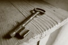 Αρχαίο κλειδί μετάλλων Στοκ φωτογραφία με δικαίωμα ελεύθερης χρήσης