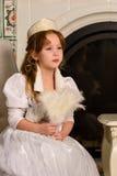 αρχαίο κορίτσι φορεμάτων Στοκ Φωτογραφία