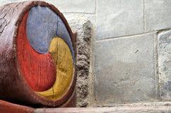 αρχαίο κορεατικό tricolor προτύπ& Στοκ εικόνα με δικαίωμα ελεύθερης χρήσης