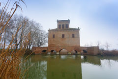 Αρχαίο κτήριο από Po τη λιμνοθάλασσα ποταμών, Ιταλία Στοκ Φωτογραφία