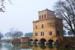 Αρχαίο κτήριο από Po τη λιμνοθάλασσα ποταμών, Ιταλία Στοκ Εικόνες
