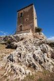 Αρχαίο κτήριο κοντά στο ελληνικό θέατρο στις Συρακούσες, Σικελία Ιταλία Στοκ Εικόνα