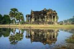 Αρχαίο κτήριο σε Angkor Wat, Καμπότζη Στοκ Εικόνα