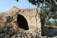 Αρχαίο κτήριο, φρούριο Qaqun, Ισραήλ Στοκ Φωτογραφία