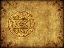 αρχαίο μαγικό sigil απεικόνιση Στοκ φωτογραφία με δικαίωμα ελεύθερης χρήσης