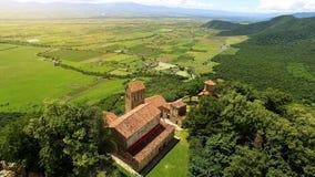 Αρχαίο μοναστήρι Nekresi σύνθετο και κοιλάδα, παλαιά αρχιτεκτονική, ταξίδι στοκ φωτογραφίες