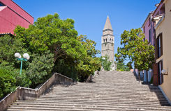 Αρχαίο μοναστήρι SAN Barnardin, Portoroz, Σλοβενία Στοκ Φωτογραφία