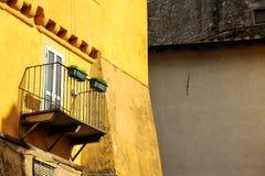 αρχαίο μπαλκόνι Στοκ εικόνα με δικαίωμα ελεύθερης χρήσης
