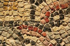 Αρχαίο μωσαϊκό κεραμιδιών Στοκ εικόνα με δικαίωμα ελεύθερης χρήσης