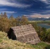 Αρχαίο ξύλινο κελτικό σπίτι στοκ φωτογραφίες