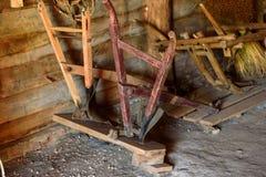 Αρχαίο ξύλινο άροτρο Στοκ φωτογραφία με δικαίωμα ελεύθερης χρήσης