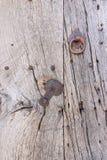 Αρχαίο ξύλο με το μέταλλο Στοκ φωτογραφία με δικαίωμα ελεύθερης χρήσης