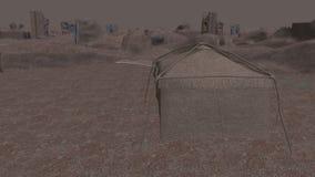 Αρχαίο ορόσημο και η έρημος απόθεμα βίντεο