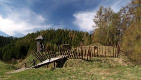 αρχαίο οχυρό ξύλινο στοκ εικόνα με δικαίωμα ελεύθερης χρήσης
