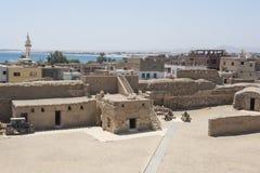 Αρχαίο οχυρό στην παλαιά αιγυπτιακή πόλη Στοκ Εικόνα