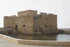 Αρχαίο οχυρό, Pafos, Κύπρος, Ευρώπη Στοκ Εικόνες