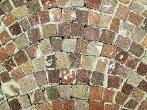 Αρχαίο πεζοδρόμιο sampietrino Στοκ εικόνες με δικαίωμα ελεύθερης χρήσης