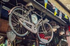 Αρχαίο ποδήλατο στην παλαιά πόλη της Τζωρτζτάουν Στοκ εικόνα με δικαίωμα ελεύθερης χρήσης