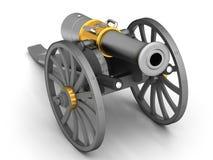 Αρχαίο πυροβόλο στις ρόδες απεικόνιση αποθεμάτων
