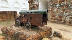 Αρχαίο πυροβόλο Melaka Στοκ φωτογραφίες με δικαίωμα ελεύθερης χρήσης