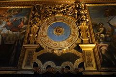 Αρχαίο ρολόι ωροσκοπίων Στοκ Εικόνες