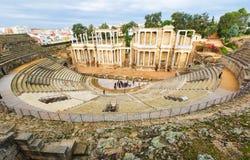 Αρχαίο ρωμαϊκό θέατρο στο Μέριντα Στοκ εικόνα με δικαίωμα ελεύθερης χρήσης