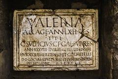 Αρχαίο ρωμαϊκό πιάτο ταφοπετρών Στοκ Φωτογραφία