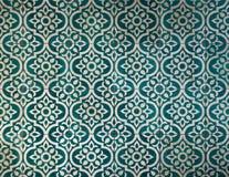 Αρχαίο σκοτεινό πρασινωπό μπλε σχέδιο κεραμιδιών Στοκ Φωτογραφία