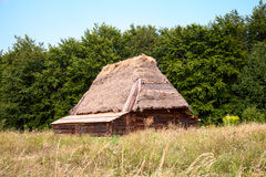 αρχαίο σπίτι ξύλινο Στοκ Εικόνες