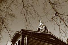 αρχαίο σπίτι ξύλινο E Στοκ Φωτογραφίες