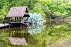 αρχαίο σπίτι Ταϊλανδός Στοκ φωτογραφίες με δικαίωμα ελεύθερης χρήσης
