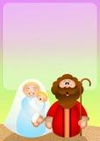 αρχαίο σύνολο σκηνής nativity ειδωλίων Στοκ Φωτογραφίες