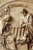 αρχαίο σύνολο σκηνής nativity ειδωλίων Στοκ Φωτογραφία