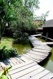 αρχαίο ταϊλανδικό χωριό Στοκ Εικόνες