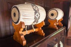 Αρχαίο ταϊλανδικό τύμπανο Στοκ Φωτογραφίες
