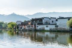 Αρχαίο του χωριού τοπίο της Κίνας Στοκ φωτογραφία με δικαίωμα ελεύθερης χρήσης