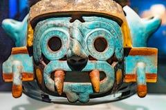 Αρχαίο των Αζτέκων πέτρινο άγαλμα Templo Θεών δήμαρχος Mexico-city Mexico στοκ φωτογραφία με δικαίωμα ελεύθερης χρήσης