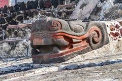 Αρχαίο των Αζτέκων πέτρινο άγαλμα Templo φιδιών δήμαρχος Mexico-city Mexico στοκ φωτογραφίες