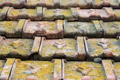 Αρχαίο υπόβαθρο κεραμιδιών στεγών Στοκ εικόνα με δικαίωμα ελεύθερης χρήσης