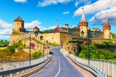 Αρχαίο φρούριο σε kamianets-Podilskyi, Ουκρανία Στοκ Εικόνες
