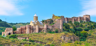 Αρχαίο φρούριο Narikala στο Tbilisi Στοκ Εικόνα