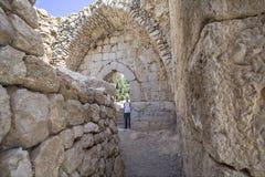 Αρχαίο φρούριο Nimrodâs. στοκ φωτογραφίες