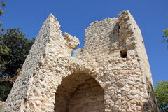 Αρχαίο φρούριο Yehiam Στοκ εικόνες με δικαίωμα ελεύθερης χρήσης