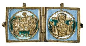 αρχαίο φυλακτό χαλκού στοκ εικόνες