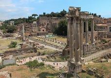 αρχαίο φόρουμ Ρωμαίος Στοκ Φωτογραφίες