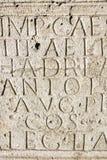 Αρχαίο χειρόγραφο σε Aquincum Στοκ Εικόνα