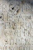 Αρχαίο χειρόγραφο σε Aquincum Στοκ Εικόνες